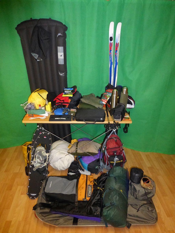 Gepäck für die Wintertour