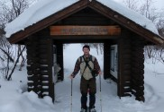 Mitch am Eingang zum Kungsleden (Königsweg)