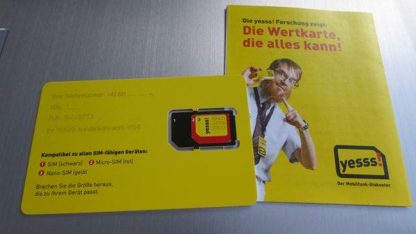 Yess Wertkarte