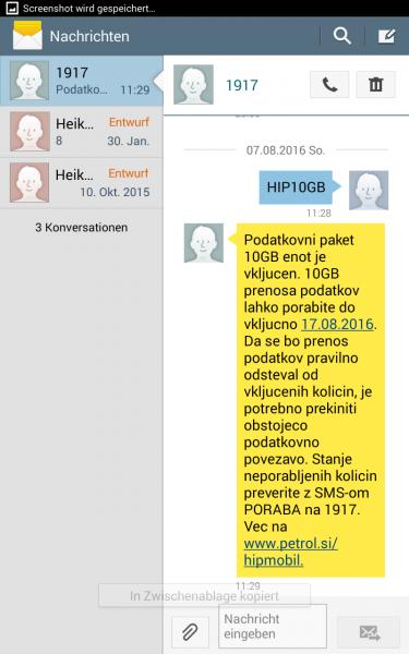 Screenshot Hip Mobile